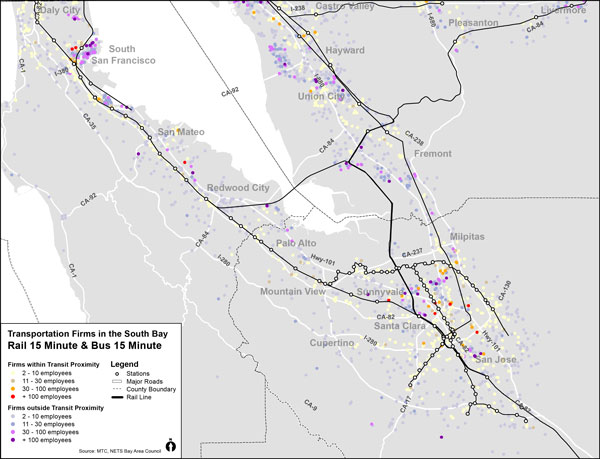 Bay Area: South Bay Transportation, Rail and Bus
