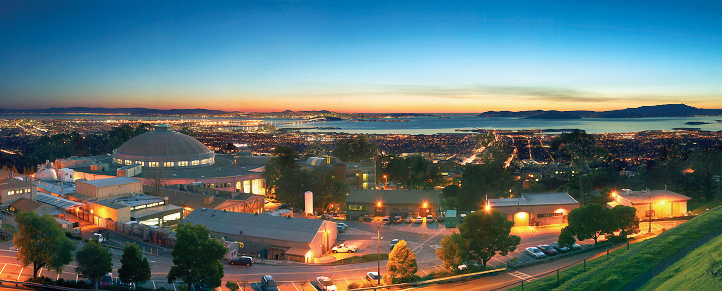Lawrence Berkeley National Laboratory sits above the City of Berkeley in the East Bay. Photo by Roy Kaltschmidt